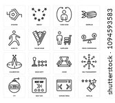 set of 16 simple editable icons ...   Shutterstock .eps vector #1094593583