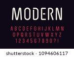 geometric technology font... | Shutterstock .eps vector #1094606117