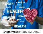 doctor pushing button health... | Shutterstock . vector #1094610953