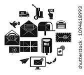 postal service icons set.... | Shutterstock .eps vector #1094618993