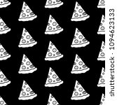 cute cartoon pizza pattern with ... | Shutterstock . vector #1094623133