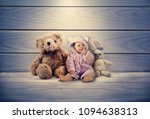 little cute baby with a funny... | Shutterstock . vector #1094638313