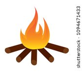 abtract nature campfire | Shutterstock .eps vector #1094671433
