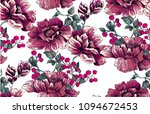 flower pattern with peony with...   Shutterstock .eps vector #1094672453