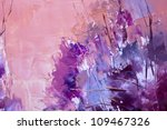 Painting abstract with oil paints - stock photo