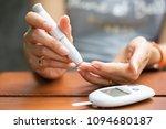 close up of asian woman hands... | Shutterstock . vector #1094680187