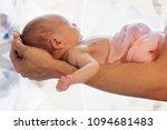 newborn baby lies on the... | Shutterstock . vector #1094681483