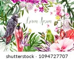beautiful bright colorful... | Shutterstock . vector #1094727707