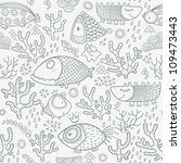 seamless pattern with fishes | Shutterstock . vector #109473443