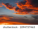 fiery  orange and red colors... | Shutterstock . vector #1094737463