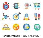 marketing icon set. targeting... | Shutterstock .eps vector #1094761937