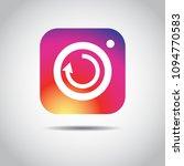 social media instagram icon...   Shutterstock .eps vector #1094770583