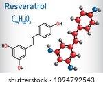 resveratrol molecule. it is... | Shutterstock .eps vector #1094792543