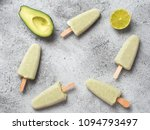 homemade raw vegan avocado lime ... | Shutterstock . vector #1094793497