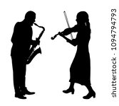 silhouettes a musician playing...   Shutterstock .eps vector #1094794793