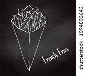 sketch potato fries in a paper... | Shutterstock .eps vector #1094803643