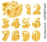 cheese full figures set. vector ... | Shutterstock .eps vector #1094807663