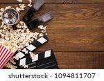 cinema background  top view.... | Shutterstock . vector #1094811707