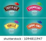 ice cream logo   brand vector.... | Shutterstock .eps vector #1094811947