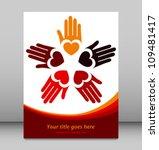 Loving Hands Design Vector.