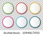 empty circle stickers... | Shutterstock .eps vector #1094817053