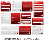 red and silver web forms design | Shutterstock . vector #109482653