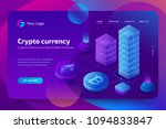 blockchain and cryptocurrency... | Shutterstock .eps vector #1094833847