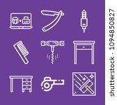 set of 9 tool outline icons... | Shutterstock .eps vector #1094850827