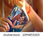 wedding memories. broken heart...   Shutterstock . vector #1094853203