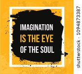 imagination is the eye of the... | Shutterstock .eps vector #1094873387