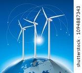 alternative energy concept ... | Shutterstock .eps vector #1094887343