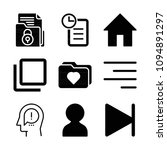 interface related set of 9...   Shutterstock .eps vector #1094891297