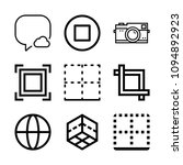 interface related set of 9... | Shutterstock .eps vector #1094892923