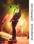 Small photo of BARCELONA - MAR 7: The Dash (post-punk band) in concert at Bikini stage on March 7, 2015 in Barcelona, Spain.