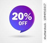20  off discount sticker. sale... | Shutterstock .eps vector #1094910317