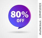 80  off discount sticker. sale... | Shutterstock .eps vector #1094910323