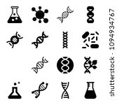 set of 16 science filled icons... | Shutterstock .eps vector #1094934767