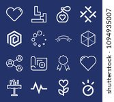 set of 16 shapes outline icons... | Shutterstock .eps vector #1094935007