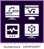 set of 4 monitor filled icons... | Shutterstock .eps vector #1094935097