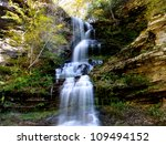 Beautiful Cascade water falls in West Virginia - stock photo