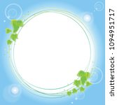 ivy frame circle type | Shutterstock .eps vector #1094951717