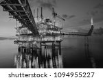 oil and gas offshore platform. | Shutterstock . vector #1094955227