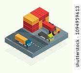 cargo logistics truck and... | Shutterstock .eps vector #1094959613