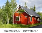 cozy cottage. finland | Shutterstock . vector #109498397