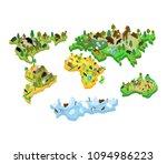 world map animal isometric...   Shutterstock .eps vector #1094986223