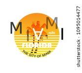 vector miami logo for printing... | Shutterstock .eps vector #1095014477