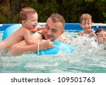 father and his children having... | Shutterstock . vector #109501763