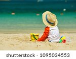 two year old toddler boy... | Shutterstock . vector #1095034553
