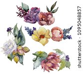 colorful bouquet. floral...   Shutterstock . vector #1095048857