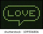 Love LED Lights - stock vector